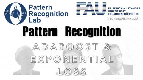 "Towards entry ""Watch now: Pattern Recognition: Episode 38 – Adaboost & Exponential Loss (WS 20/21)"""